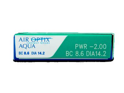 Air Optix Aqua (3komleća) - Pregled parametara leća