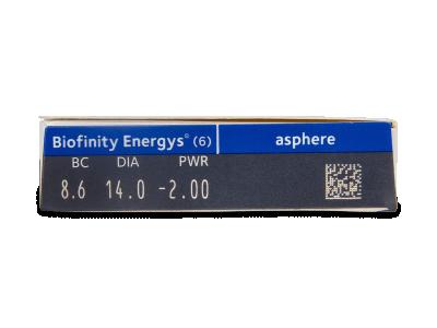 Biofinity Energys (6 leća) - Pregled parametara leća