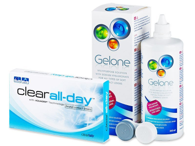 Clear All-Day (6 kom leća) + Gelone 360 ml - Ponuda paketa