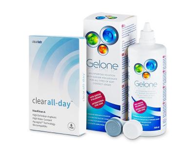 Clear All-Day (6 kom leća) + Gelone 360 ml
