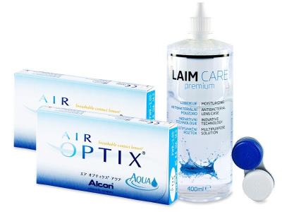 Air Optix Aqua (2x3 kom leća) + Laim-Care 400 ml - Stariji dizajn