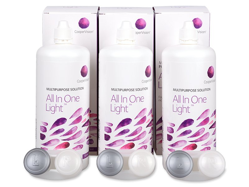 Otopina All In One Light 3 x 360 ml  - Ekonomično troduplo pakiranje otopine