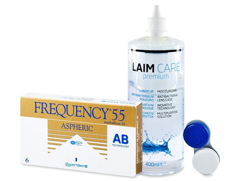 Frequency 55 Aspheric (6 kom leća) + Laim-Care 400 ml - Ponuda paketa