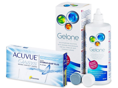 Acuvue Oasys for Astigmatism (6 kom leća) + Gelone 360 ml