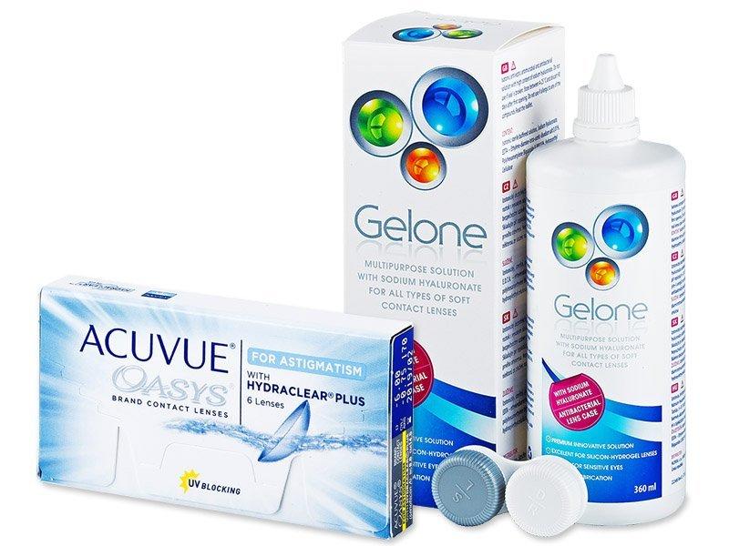 Acuvue Oasys for Astigmatism (6 kom leća) + Gelone 360 ml - Ponuda paketa