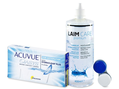 Acuvue Oasys for Astigmatism (6 kom leća) + Laim-Care 400 ml