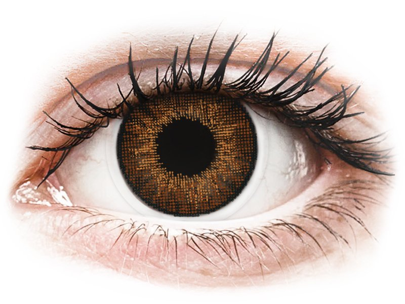 Air Optix Colors - Brown - bez dioptrije (2 kom leća)