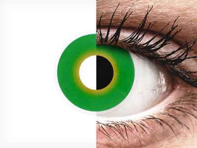 ColourVUE Crazy Lens - Hulk Green - bez dioptrije (2 kom leća)
