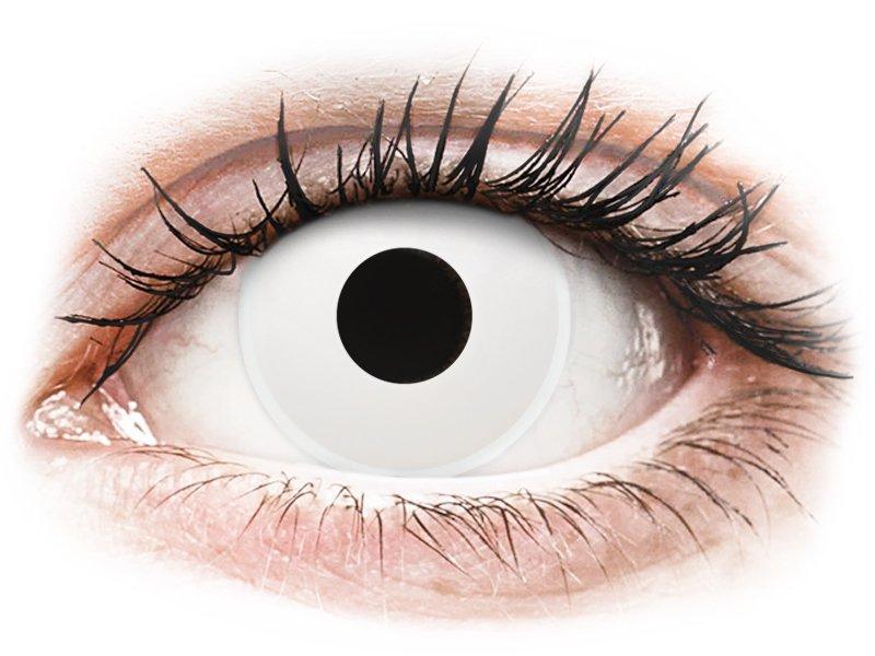 ColourVUE Crazy Lens - WhiteOut - bez dioptrije (2 kom leća)