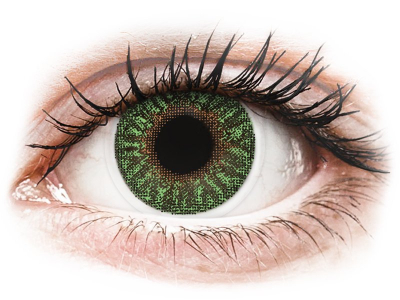 TopVue Color - Green - dioptrijske (2kom leća)