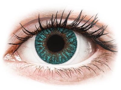 TopVue Color - Turquoise - dioptrijske (2 kom leća)