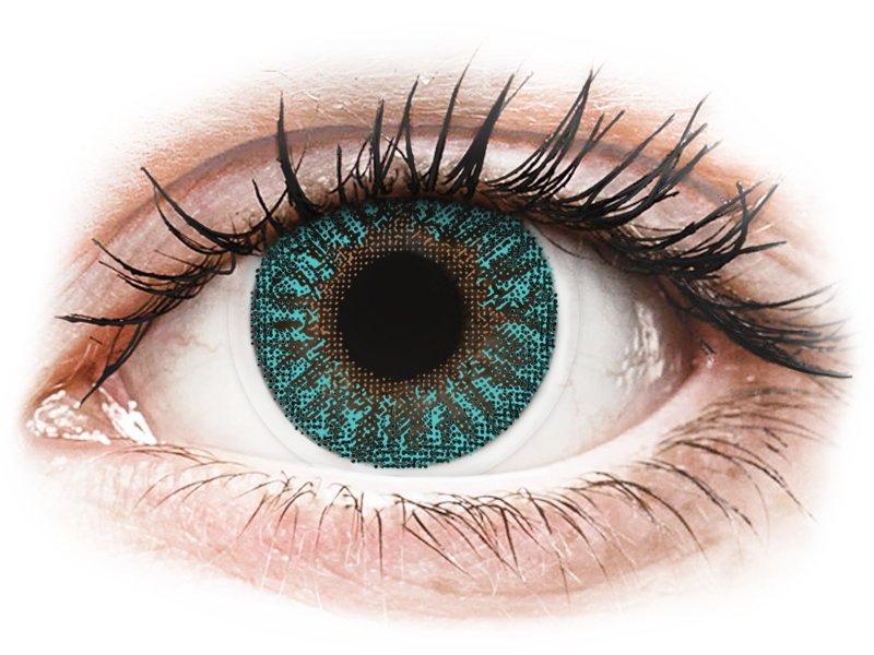 TopVue Color - Turquoise - dioptrijske (2 kom leća) - Kontaktne leće u boji