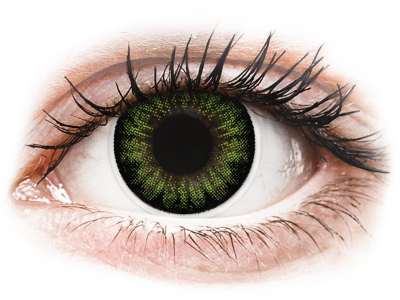 ColourVUE BigEyes Party Green - bez dioptrije (2 kom leća)