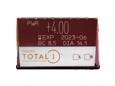 Dailies TOTAL1 (30komleća) - Pregled parametara leća