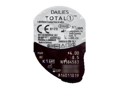 Dailies TOTAL1 (30komleća) - Pregled blister pakiranja