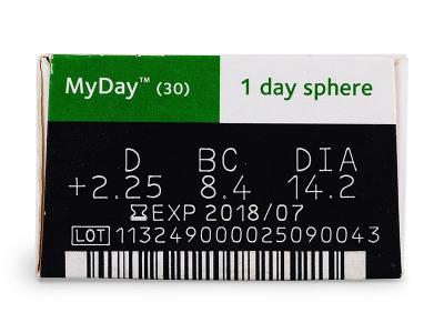 MyDay daily disposable (30kom leća) - Pregled parametara leća