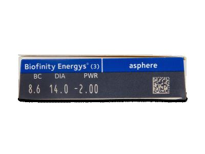 Biofinity Energys (3 leće) - Pregled parametara leća
