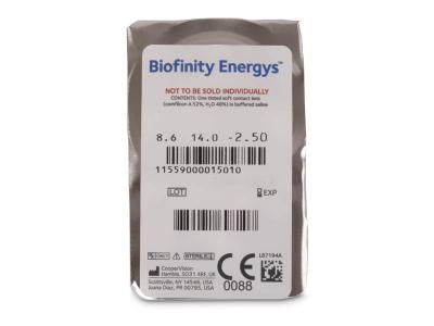 Biofinity Energys (3 leće) - Pregled blister pakiranja