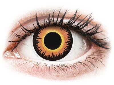 ColourVUE Crazy - Orange Werewolf - jednodnevne leće bez dioptrije (2 kom leća)