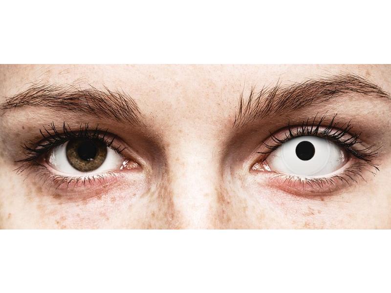 ColourVUE Crazy - Whiteout - jednodnevne leće bez dioptrije (2 kom leća)