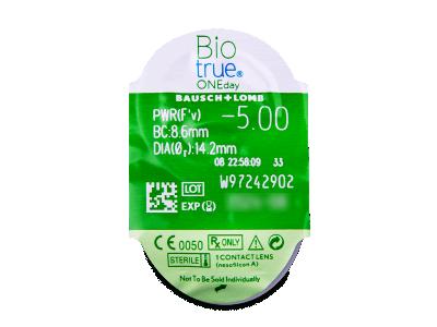 Biotrue ONEday (30komleća) - Pregled blister pakiranja