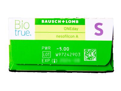 Biotrue ONEday (30komleća) - Pregled parametara leća