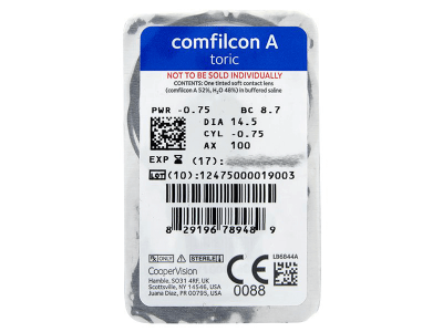Biofinity Toric (6komleća) - Pregled blister pakiranja