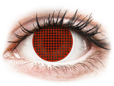 ColourVUE Crazy Lens - Red Screen - bez dioptrije (2 kom leća)