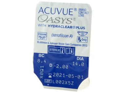 Acuvue Oasys (12kom leća) - Pregled blister pakiranja