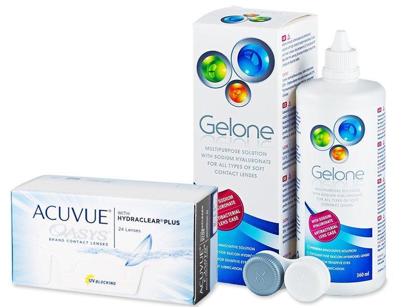 Acuvue Oasys (24 kom leća) + Gelone 360 ml - Ponuda paketa