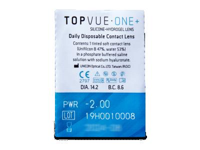 TopVue One+ (30 kom leća) - Pregled blister pakiranja