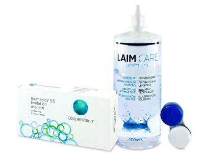 Biomedics 55 Evolution (6 kom leća) + Laim-Care 400 ml