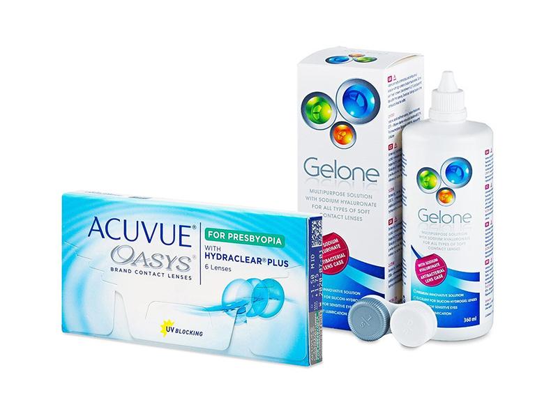 Acuvue Oasys for Presbyopia (6 kom leća) + Gelone 360 ml