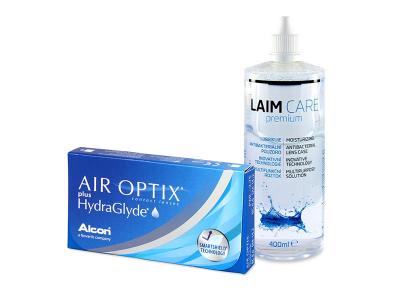 Air Optix plus HydraGlyde (3 kom leća) + Laim-Care 400 ml