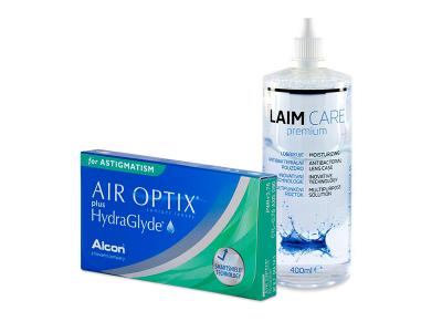 Air Optix plus HydraGlyde for Astigmatism (3 kom leća) + Laim-Care 400 ml