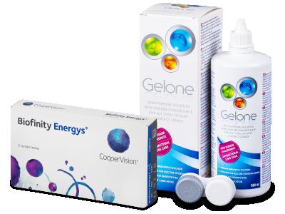 Biofinity Energys (3 kom leća) + Gelone 360 ml