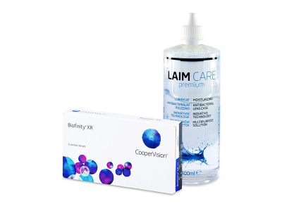Biofinity XR (3 kom leća) + Laim-Care 400 ml