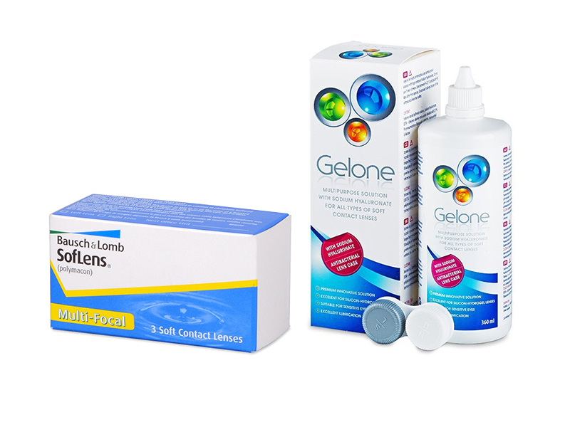 SofLens Multi-Focal (3 kom leća) + Gelone 360 ml