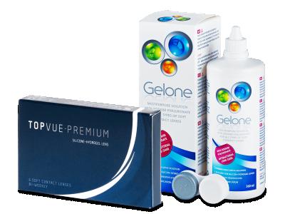 TopVue Premium (6 kom leća) + Gelone 360 ml