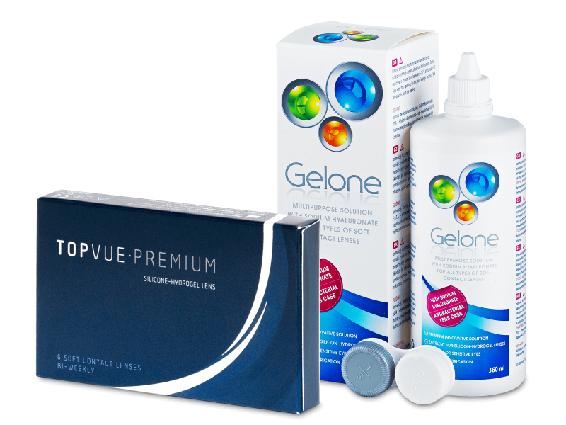 TopVue Premium (6 kom leća) + Gelone 360 ml - Ponuda paketa