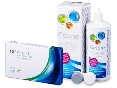 TopVue Air for Astigmatism (3 kom leća) + Gelone 360 ml