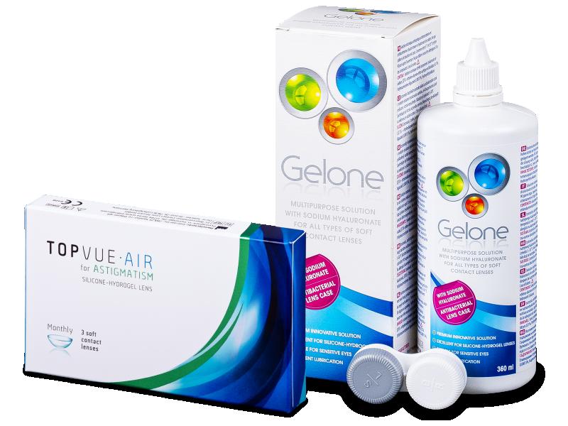 TopVue Air for Astigmatism (3 kom leća) + Gelone 360 ml - Ponuda paketa