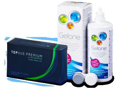 TopVue Premium for Astigmatism (6kom leća) + Gelone 360 ml