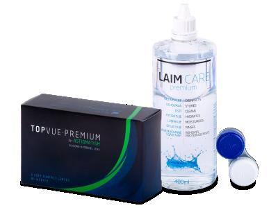 TopVue Premium for Astigmatism (6kom leća) + Laim-Care 400 ml