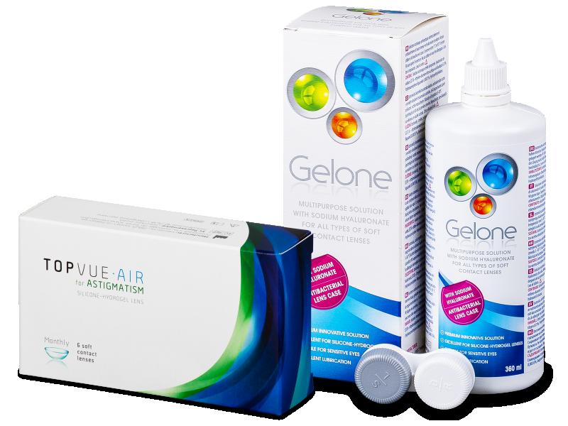 TopVue Air for Astigmatism (6kom leća) + Gelone 360 ml - Ponuda paketa