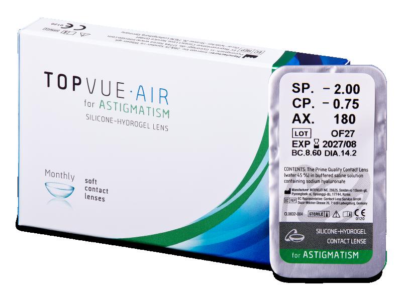 TopVue Air for Astigmatism (1 leća) - Torične kontaktne leće