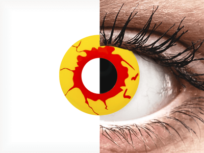 ColourVUE Crazy Lens - Reignfire - jednodnevne leće bez dioptrije (2kom leća)
