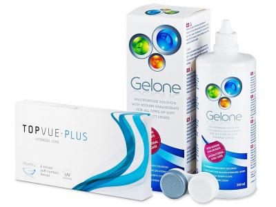 TopVue Plus (6 kom leća) + Gelone 360 ml