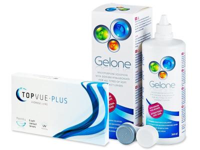 TopVue Plus (6 kom leća) + Gelone 360 ml - Stariji dizajn