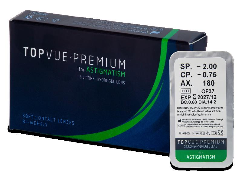 TopVue Premium for Astigmatism (1 leća) - Torične kontaktne leće